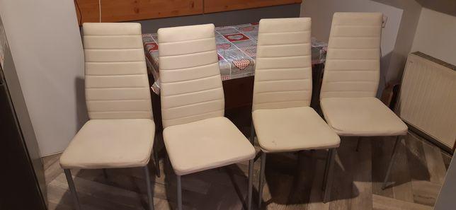 4 Krzesła kuchenne białe
