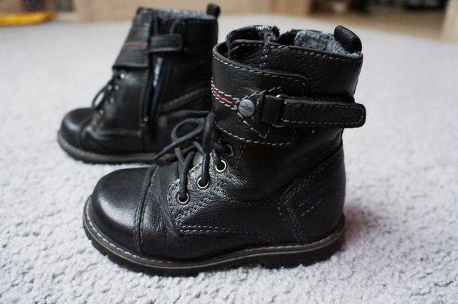 Buty skórzane rozm. 24 Lasocki Kids, trzewiki