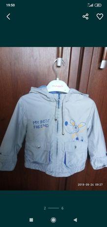 Куртка курточка для мальчика размер 80/86
