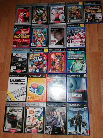 Jogos PS2, corridas de carros, acção, crianças e futebol