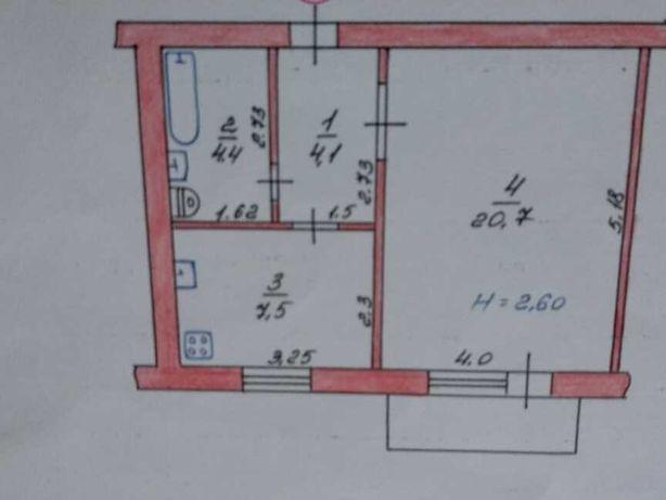 1- комнатную квартиру (общая площадь 36,7 М2