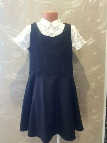 Школьный форма,сарафан и блузка