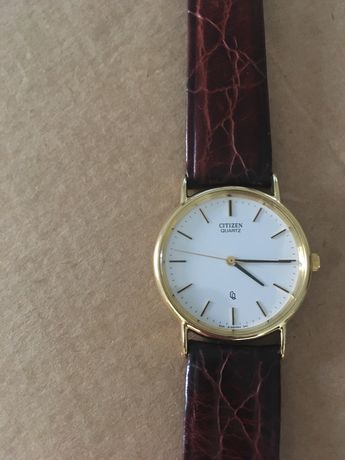 Relógio Citizen - pulseira em pele genuína - unisexo