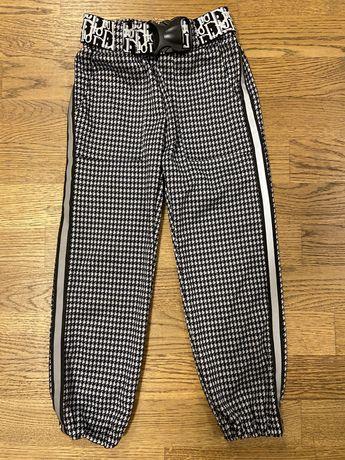 Брюки с ремешком штаны на девочку, в идеальном состоянии