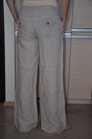 Lniane spodnie r. 38