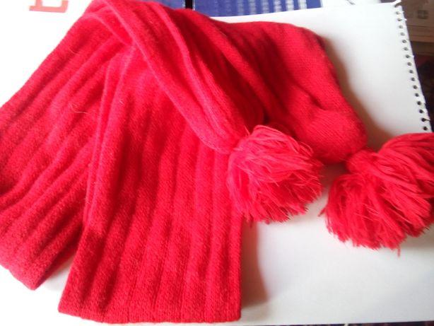 Красный длинный двойной шарф сделает Вас ярче!