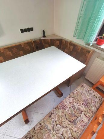 Rogówka stół i ława komplet do kuchni
