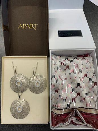 Nowy nieużywany zestaw biżuterii + apaszka Apart