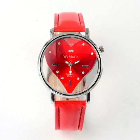 Serce - wyjątkowy tradycyjny zegarek na pasku, Walentynki