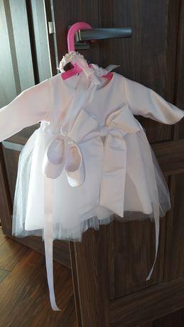 Ubranko do chrztu, sukienka, rozmiar 68