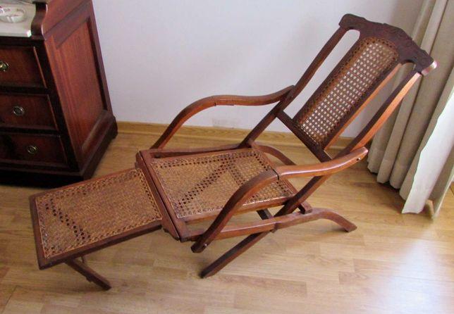 Cadeira de deck em palhinha