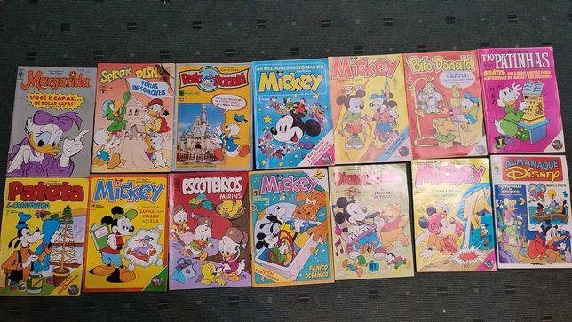 Lote 50 livros BD Disney