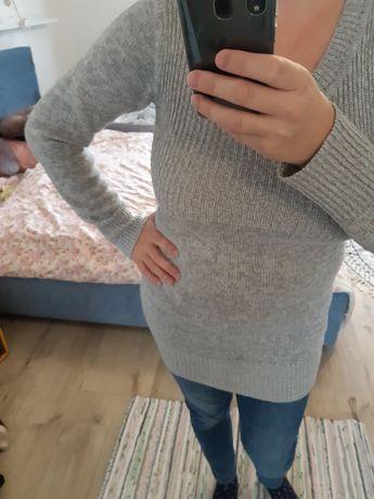 Only szary długi sweter