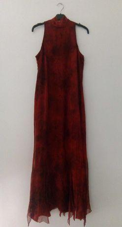 Vestido comprido de seda Javier Simorra - oferta de mala