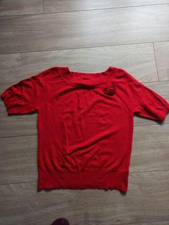 Kamizelka sweter czerwony M