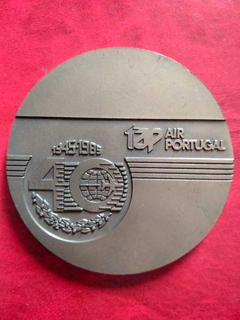 Medalha comemorativa Tap - 40 anos