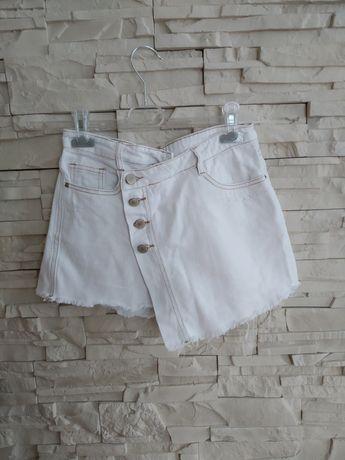 Spódnico - spodenki białe jeansowe Sinsay