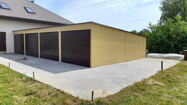 Garaz blaszany drewnopodobny 9x6