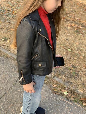 Куртка косуха кожанка 98-110  Новая