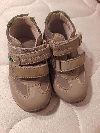 Ботиночки кожаные. Первая обувь малыша