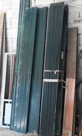Portão Fole de Garagem Verde 2,40H 3,00L
