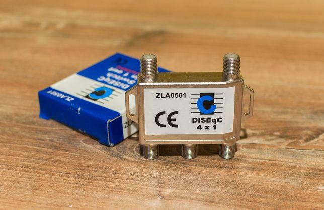 Przełącznik DiseqC 4x1 Cabeltech ZLA0501 Nowy