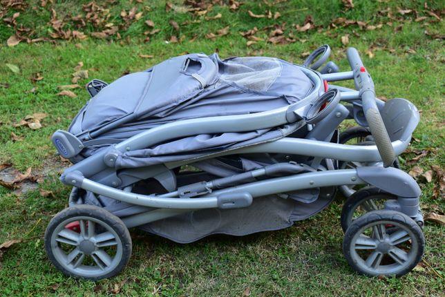 Wózek składany dla rodzeństwa (niemowlak + starszy brat, lub siostra)