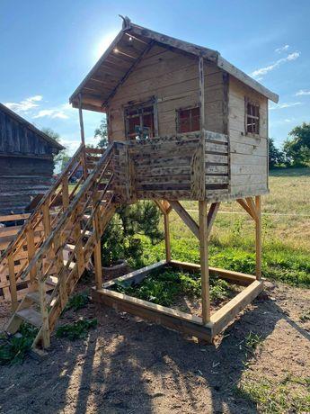 Domek drewniany dla dzieci, domki, plac zabaw