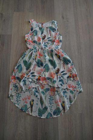 Новое шифоновое платье-сарафан ф. H&M р. 134 см 8-9 лет
