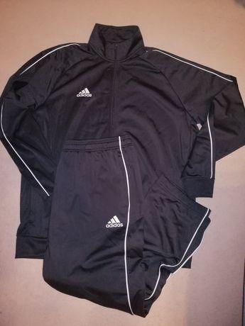 Dres komplet adidas bluza spodnie dresowe czarne rozmiar XL