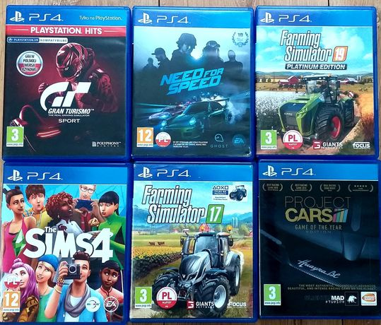 Gry na ps4 The Sims Farming Simulator need for speed Project Cars