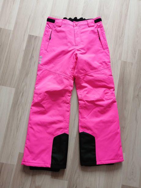 Spodnie narciarskie dziewczęce C&A r. 140 neonowy róż