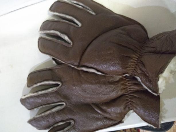 Перчатки кожзам на меху теплые
