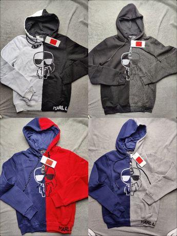 S- XXL Premium Karl Lagerfield Bluza z suwaczkiem z kapturem HIT