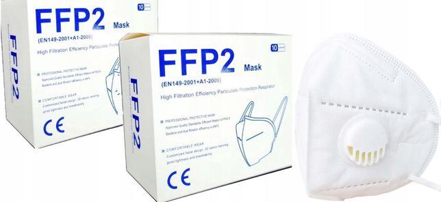 Maska Ochronna Z Zaworkiem FFP2 - 10 szt