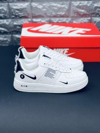 Кожаные белые кеды Найк Nike Air Force 1 Shadow 2021 білі кросівки Аф1