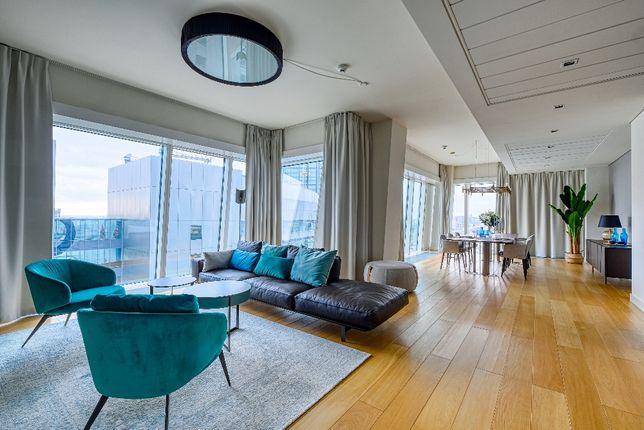 Złota 44 - reprezentacyjny apartament na 15 piętrze - 2 sypialnie