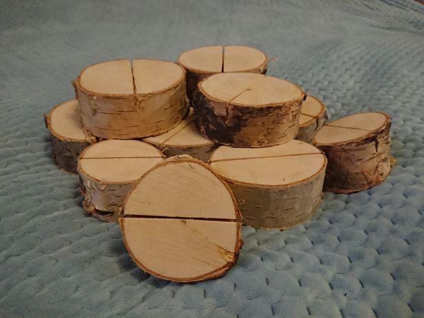 Drewniane podstawki pod winietki wizytówki - brzoza -Rustykalne wesele