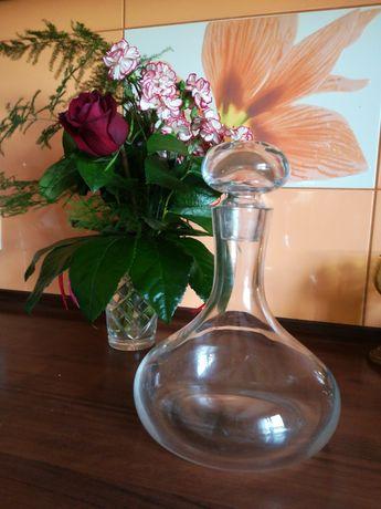 Vintage-   karafka -grube białe szkło
