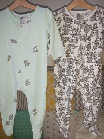 H&M piżamka*pajacyk*kombinezon*zatrzaski*śpiochy*74*rampers