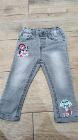 Szare jeansy rozmiar 86