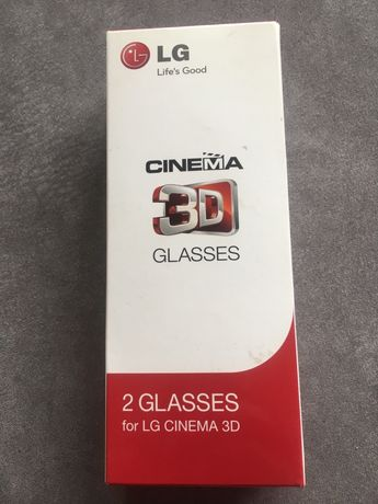 LG Okulary Pasywne AG-F310 oryginalne CINEMA 3D 2 szt
