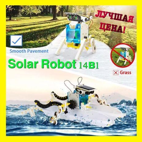 ХИТ! Конструктор робот на солнечных батареях Solar Robot 14в1 подарок