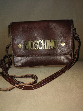 Mała torebka Moschino brązowa