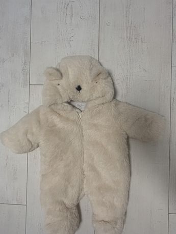 Kombinezon miś polarowy cieply dla noworodka dziecka