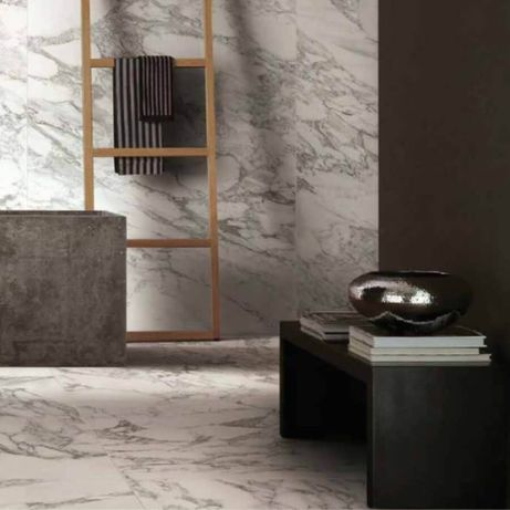 Spieki kwarcowe Arabescato White matowy 80x80x0,6 cm/ ściana podłoga
