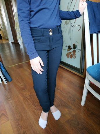 Утепленные школьные брюки на флисе для девочки р. 128