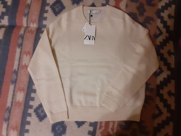 Zara kaszmirowy sweter ECRI 40 L