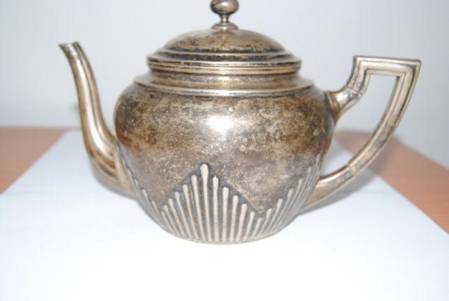 Dzbanek, imbryk do herbaty, srebro 800, rok Niemcy 1906