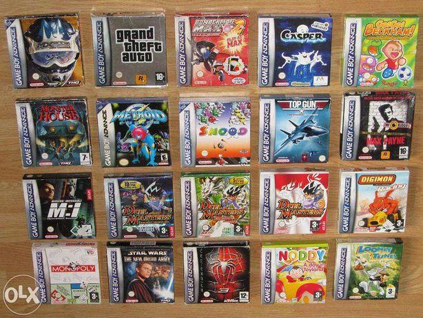 Game Boy Advance: Consola, acessórios e jogos, vendo individualmente